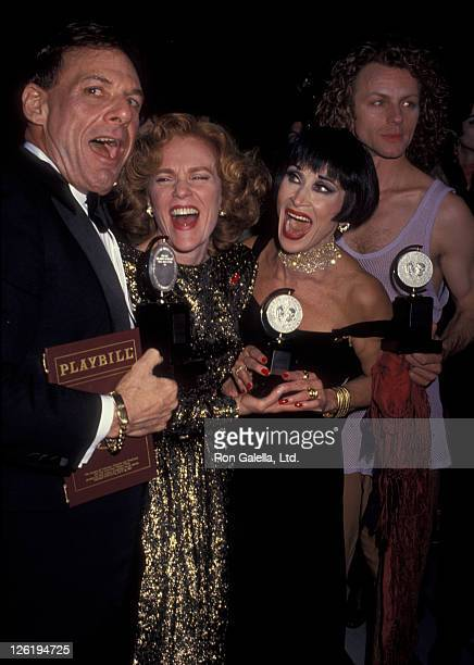 Ron Leibman Madeline Kahn Chita Rivera and Brent Carver attend 59th Annual New York Drama League Awards Gala on May 6 1993 at the Plaza Hotel in New...