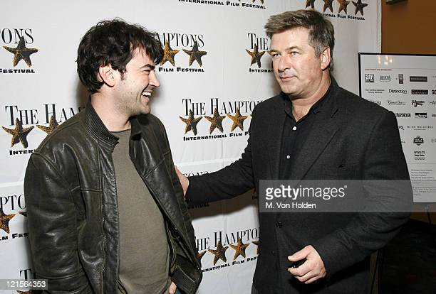 """Ron Livingston and Alec Baldwin during 14th Annual Hamptons International Film Festival - Screening of """"Holly""""- Arrivals and Inside at United Artist..."""