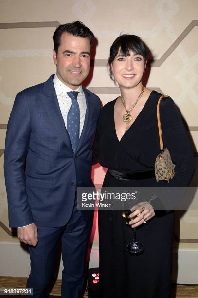 Ron Livingston and Diablo Cody attend the premiere of Focus Features' Tully at Regal LA Live Stadium 14 on April 18 2018 in Los Angeles California