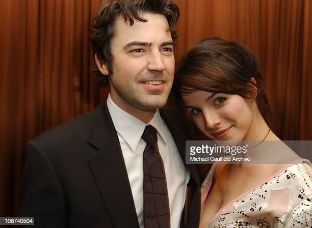 Ron Livingston and Lisa Sheridan during The 61st Annual Golden Globe Awards InStyle/ Warner Bros Golden Globe After Party Inside at Palm Court at the...