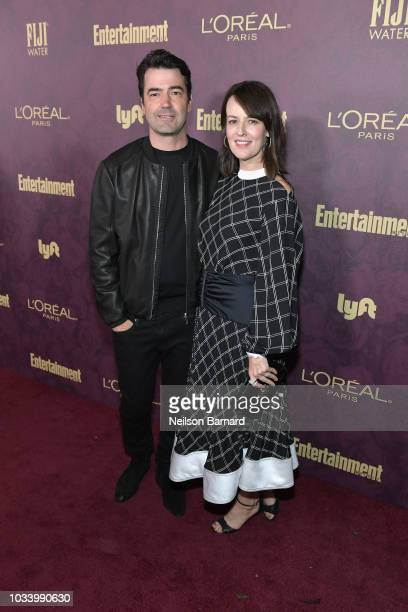 Ron Livingston and Rosemarie DeWitt attend the 2018 PreEmmy Party hosted by Entertainment Weekly and L'Oreal Paris at Sunset Tower on September 15...