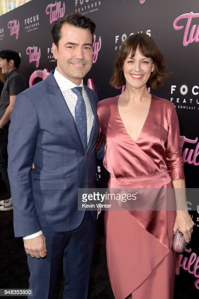 Ron Livingston and Rosemarie DeWitt attend the premiere of Focus Features' Tully at Regal LA Live Stadium 14 on April 18 2018 in Los Angeles...