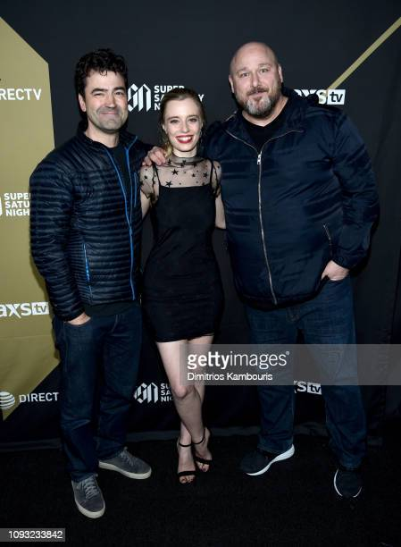 Ron Livingston, Anja Savcic and Will Sasso attend DIRECTV Super Saturday Night 2019 at Atlantic Station on February 2, 2019 in Atlanta, Georgia.