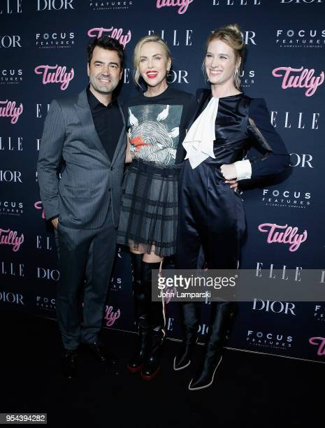 Ron Livingston Charlize Theron and Mackenzie Davis attend Tully special screening at the Whitby Hotel on May 3 2018 in New York City