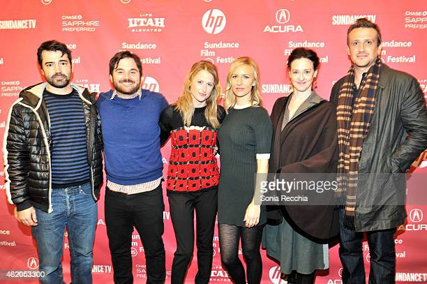 Ron Livingston director James Ponsoldt Mamie Gummer Mickey Sumner Joan Cusack and Jason Segel attend the The End Of The Tour Premiere during the 2015...