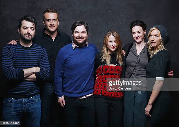 Ron Livingston Jason Segel Mickey Sumner Mamie Gummer James Ponsoldt and Joan Cusack from the film 'The End of Tour' pose for a portrait for the Los...
