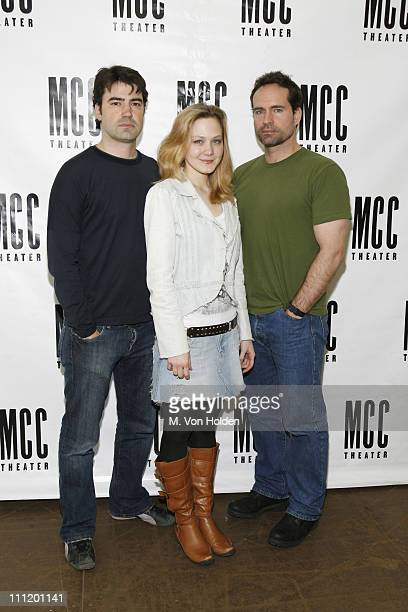 Ron Livingston Louisa Krause and Jason Patric during Ron Livingston Jason Patric and Author Neil LaBute on First Day of Rehearsal for New Play In a...