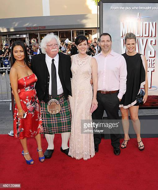 Ron MacFarlane , Rachael MacFarlane and family arrive at the Los Angeles premiere of 'A Million Ways To Die In The West' at Regency Village Theatre...