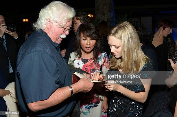 Ron MacFarlane Xiao Xiang and Amanda Seyfried attend the Heaven On Earth Gala The Perry MacFarlane Legacy honoring 20th Century Fox TV Animation...