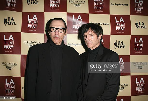 """Ron Mael and Russell Mael of of Sparks attend """"The Seduction Of Ingmar Bergman"""" Premiere during the 2011 Los Angeles Film Festival held at John Anson..."""