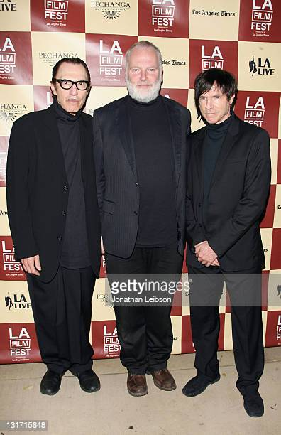 """Ron Mael and Russell Mael of Sparks and director Guy Maddin attend """"The Seduction Of Ingmar Bergman"""" Premiere during the 2011 Los Angeles Film..."""