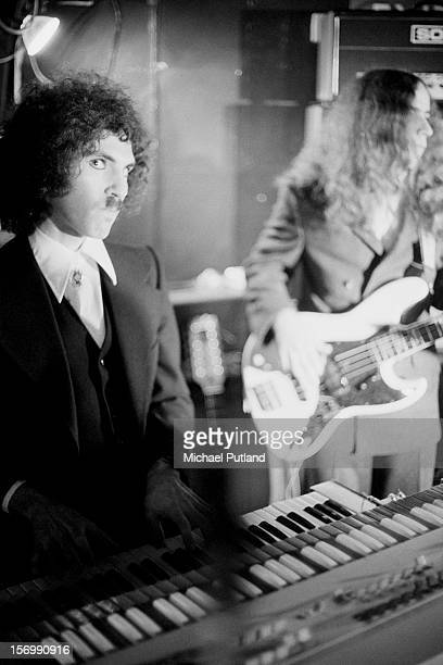Ron Mael from Sparks performs at the Pheasantry, London, November 1972.