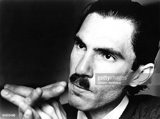 Ron Mael from Sparks posed in Amsterdam, Netherlands in 1975