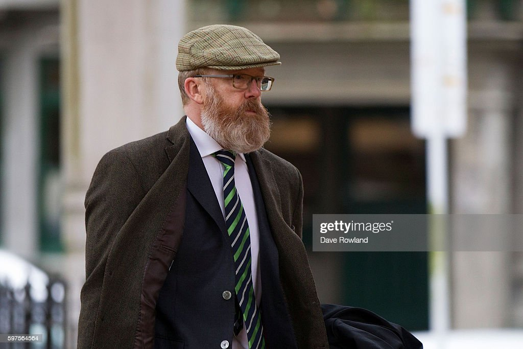 Ron Mansfield, lawyer for Kim Dotcom arrives in New Zealand's High Court on August 29, 2016 in Auckland, New Zealand. Dotcom and his law team are now challenging the extradition ruling against him. The case is expected to run up to eight weeks.
