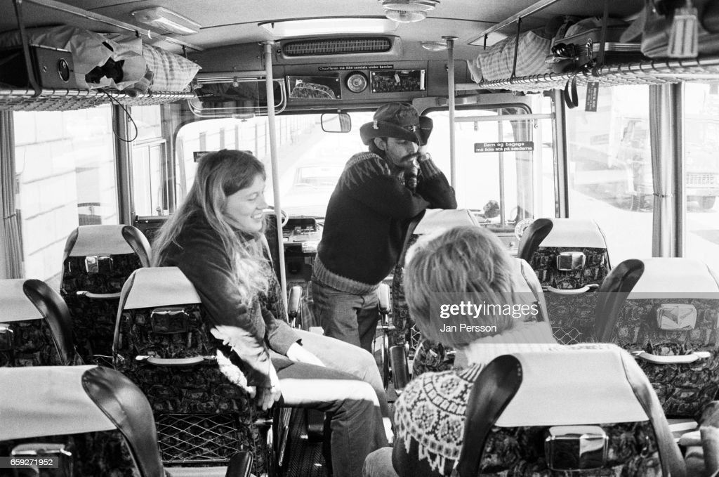 Ron McKernan 'Pig Pen' of Grateful Dead on board the band's tour bus