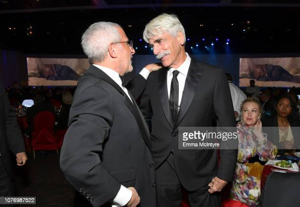 Ron Meyer and Sam Elliott attend the 30th Annual Palm Springs International Film Festival Film Awards Gala at Palm Springs Convention Center on...