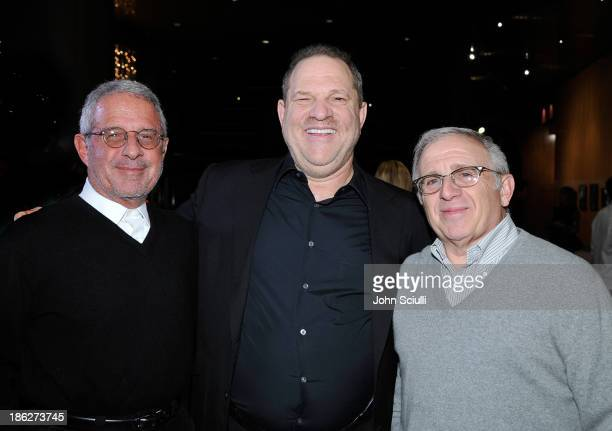 Ron Meyer Harvey Weinstein and Irving Azoff attend the Weinstein Company presentation of the Los Angeles premiere '121212' at the DGA Theater on...