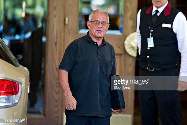 Ron Meyer president and chief operating officer of Universal Studios arrives at the Allen Co Media and Technology Conference in Sun Valley Idaho US...