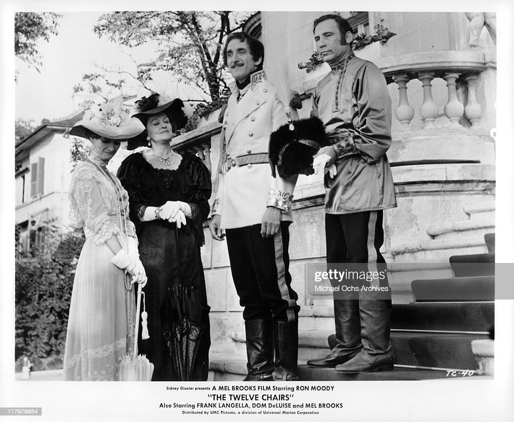 Ron Moody And Mel Brooks On The Stairs In A Scene From The Film U0027The