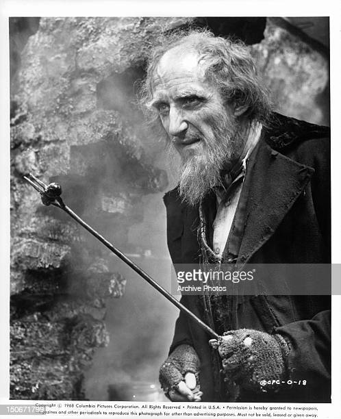 Ron Moody, as Fagin, in a scene from the film 'Oliver!', 1968.