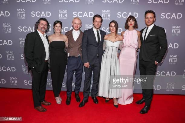 Ron Moore, Maria Doyle Kennedy, John Bell, Richard Rankin, Sophie Skelton, Caitriona Balfe, and Sam Heughan attend the 21st SCAD Savannah Film...