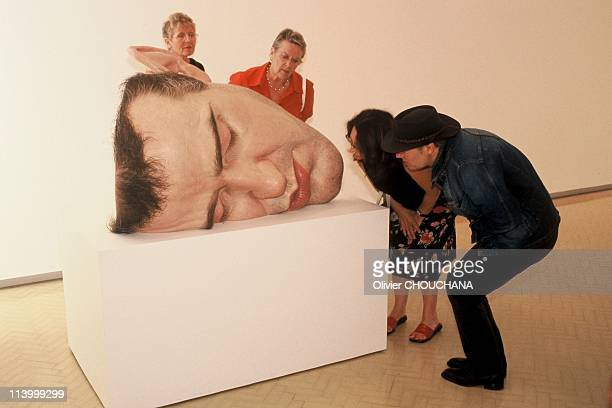 Ron Mueck exhibition in Sydney Australia in January 2003Mask 2 2001/2002 Collection of the Scottish National Gallery of Modern Art