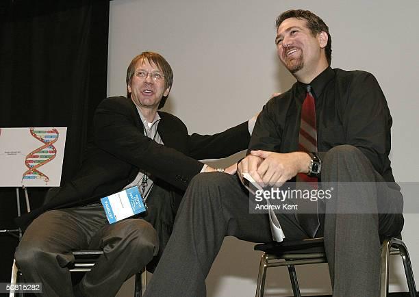 Ron Nyswaner screenwriter and David Baxter director speak at the Unraveling The Code Rosalind Franklin and DNA panel during the 2004 Tribeca Film...