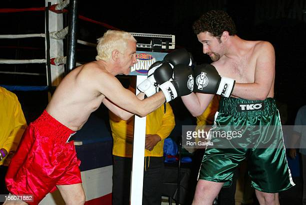 Ron Palillo and Dustin Diamond during 'Celebrity Boxing 2' WeighIn at KTLA Studios in Hollywood California United States