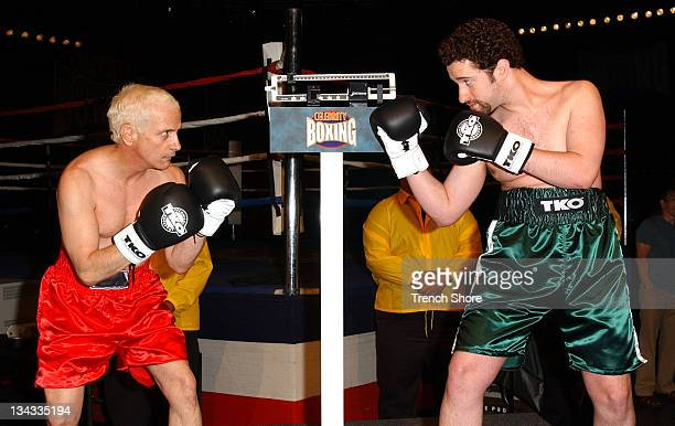Ron Palillo Dustin Diamond during 'Celebrity Boxing 2' WeighIn at KTLA Studios in Hollywood California United States