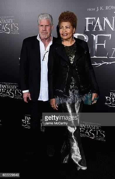 Ron Pearlman and Opal Perlman attend the Fantastic Beasts And Where To Find Them World Premiere at Alice Tully Hall Lincoln Center on November 10...