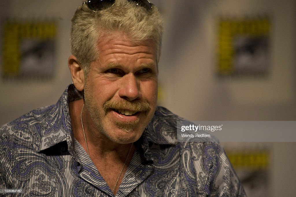 Ron Pearlman speaks at the Sons of Anarchy panel at Comic-Con on July 25, 2010 in San Diego, California.