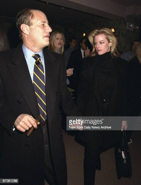 Ron Perelman and date arrive at the China Club where Bruce Willis and The Accelerators band were holding a benefit sponsored by Planet Hollywood in...