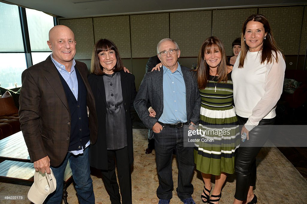 Ron Perelman, Lisa Robinson, Irving Azoff, Shelli Azoff, and actress Lorraine Bracco attend the Shelli And Irving Azoff & Ronald Perelman Party to celebrate the publication of Lisa Robinson's book 'There Goes Gravity: A Life in Rock And Roll' on May 28, 2014 in Los Angeles, California.
