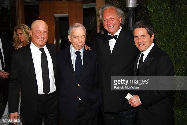 Ron Perelman SI Newhouse Graydon Carter and Brad Grey attend Vanity Fair Oscar Party at Morton's Restaurant on March 5 2006