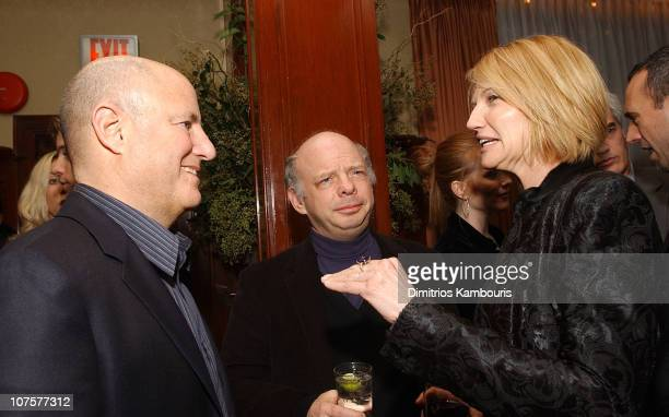 Ron Perelman Wallace Shawn and Ellen Barkin during Far From Heaven New York Premiere AfterParty at 21 Restaurant in New York New York