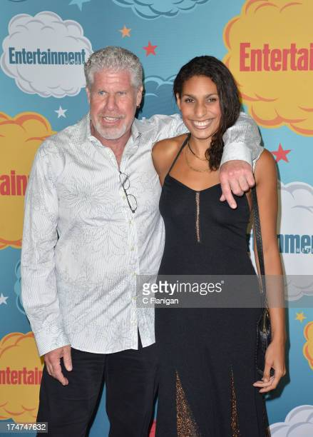 Ron Perlman and Blake Perlman arrive at Entertainment Weekly's Annual ComicCon Celebration at Float at Hard Rock Hotel San Diego on July 20 2013 in...