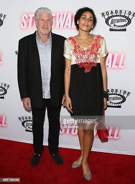 Ron Perlman and Blake Perlman attend the premiere of Roadside Attractions' 'Stonewall' at the Pacific Design Center on September 23 2015 in West...