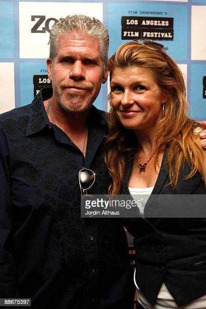 """Ron Perlman and Connie Brighton attends the 2009 Los Angeles Film Festival's """"I Sell The Dead"""" Screening at the Landmark Theater on June 24, 2009 in..."""