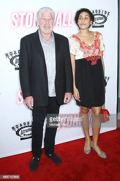 Ron Perlman and daughter Blake Perlman arrive at the Los Angeles premiere of Stonewall held at Pacific Design Center on September 23 2015 in West...