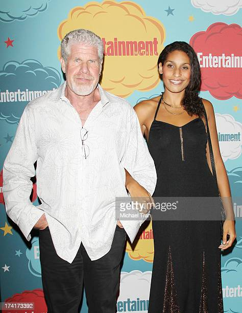 Ron Perlman and daugter Blake Perlman arrive at the Entertainment Weekly's Annual ComicCon celebration held at Float at Hard Rock Hotel San Diego on...