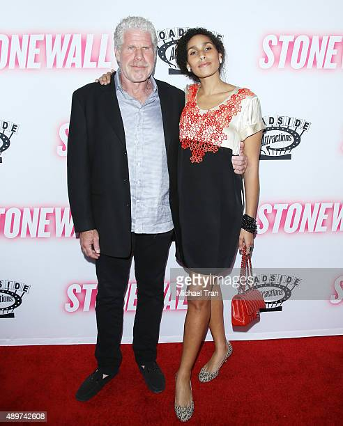 Ron Perlman and his daughter Blake arrive at the Los Angeles premiere of Stonewall held at Pacific Design Center on September 23 2015 in West...