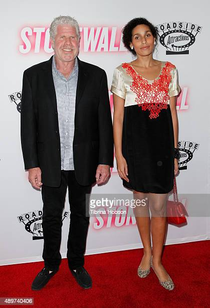 Ron Perlman and his daughter Blake Perlman attend the premiere of Roadside Attractions' 'Stonewall' at the Pacific Design Center on September 23 2015...