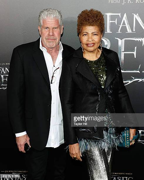Ron Perlman and Opal Perlman attend the premiere of Fantastic Beasts and Where to Find Them at Alice Tully Hall Lincoln Center on November 10 2016 in...