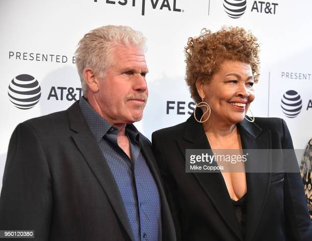 Ron Perlman and Opal Stone attend a screening of To Dust during the 2018 Tribeca Film Festival at SVA Theatre on April 22 2018 in New York City