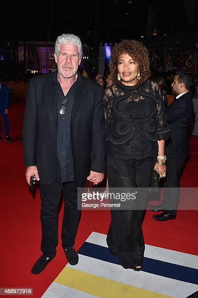 Ron Perlman and Opal Stone Perlman attend the 'Stonewall' premiere during the 2015 Toronto International Film Festival at Roy Thomson Hall on...