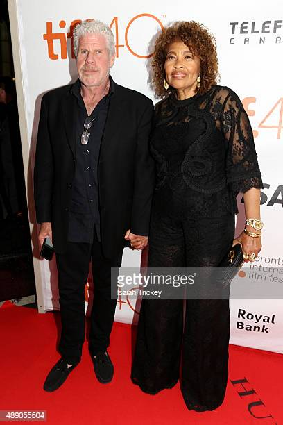 Ron Perlman and Opal Stone Perlman attends the 'Stonewall' premiere during the 2015 Toronto International Film Festival at Roy Thomson Hall on...