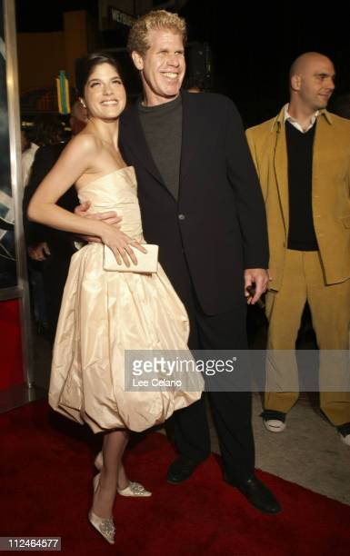 "Ron Perlman and Selma Blair during ""Hellboy"" Los Angeles Premiere - Red Carpet at Mann Village Westwood in Westwood, California, United States."