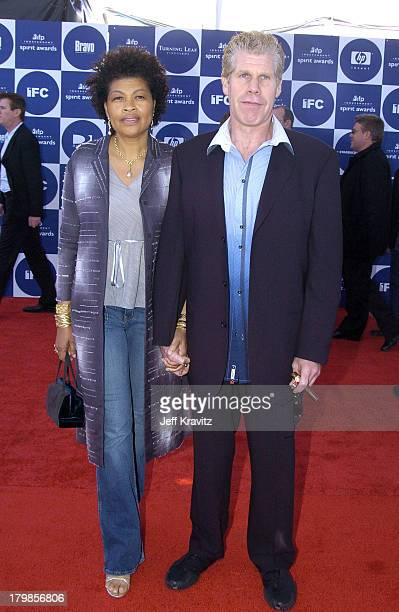 Ron Perlman and wife Opal during 2004 Independent Spirit Awards Arrivals at Santa Monica Pier in Santa Monica California United States