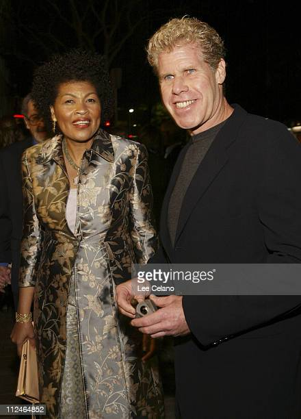 "Ron Perlman and wife Opal during ""Hellboy"" Los Angeles Premiere - Red Carpet at Mann Village Westwood in Westwood, California, United States."