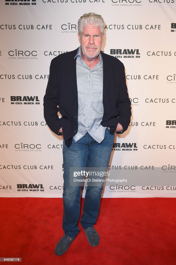 Ron Perlman attends 'Brawl In Cell Block 99' Premiere Party Hosted By Cactus Club Cafe At First Canadian Place In partnership With CIROC at First Canadian Place on September 12, 2017 in Toronto, Canada.